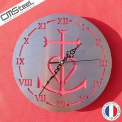 Horloge Croix Camargue Diamètre 25cm