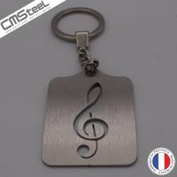 Porte clés Clé de sol