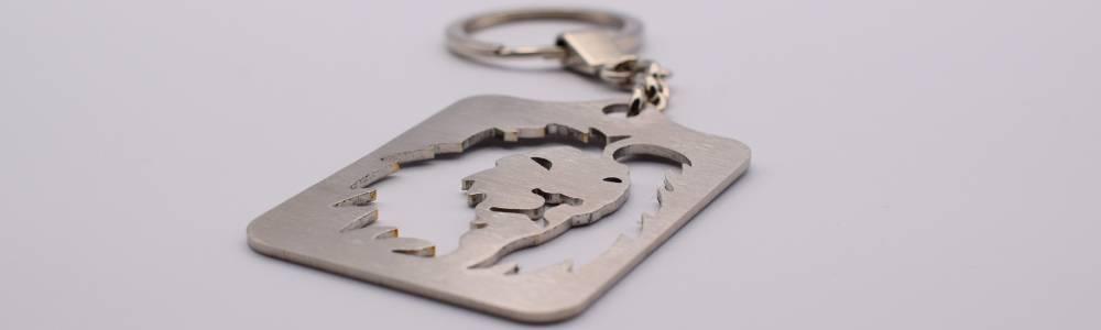 Porte-clés originaux en inox