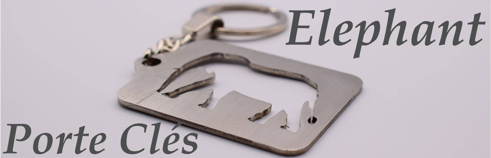 Porte clés élephant
