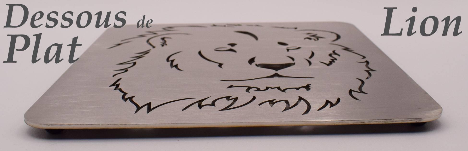 Dessous de plat croix Lion en Inox